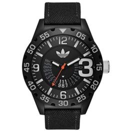 Adidas ADH3157 NEWBURGH Uhr Herrenuhr Stoffband Kunststoff 10 bar Analog Datum schwarz - 1