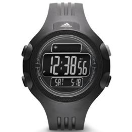 Adidas ADP6080 QUESTRA Uhr Herrenuhr Kunststoff 50m Digital Datum Licht Alarm Timer schwarz - 1