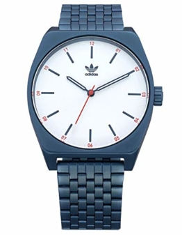 adidas Herrenuhr Process_M1.6 Link-Edelstahl-Armband, 20 Mm Breite (0,38 Mm) One Size Navy/Silber Sunray/Rot - 1