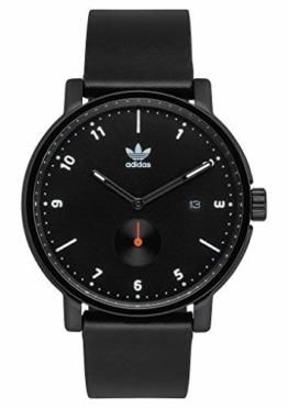adidas Uhren District_Lx2.Horween Lederband Männer, 20 Mm Breite (.40Mm) Alle Schwarz/Weiß / Orange - 1