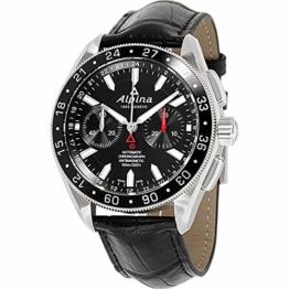 ALPINA ALPINER 4 Herren-Armbanduhr 44MM SCHWARZ AUTOMATIK ANALOG AL-860B5AQ6 - 1