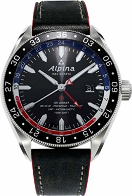 Alpina Alpiner Herren-Armbanduhr 44mm Armband Leder Automatik AL-550GRN5AQ6 - 1