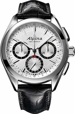 Alpina Alpiner Herren-Armbanduhr 44mm Schwarz Schweizer Automatik AL-760SB5AQ6 - 1
