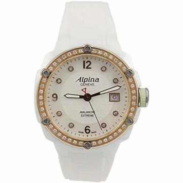 Alpina Avalanche Damen-Armbanduhr 45mm Weiß Schweizer Quarz AL-240MPWD3AEDC4 - 1