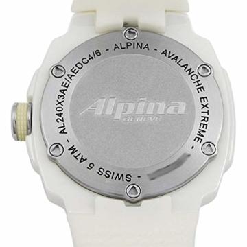 Alpina Avalanche Damen-Armbanduhr 45mm Weiß Schweizer Quarz AL-240MPWD3AEDC4 - 6