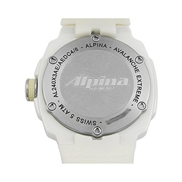 Alpina Avalanche Damen-Armbanduhr 45mm Weiß Schweizer Quarz AL-240MPWD3AEDC4 - 8