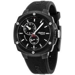 Alpina Avalanche Extreme schwarz Zifferblatt Silikonband Herren-Armbanduhr al650lbbb3fbae6 - 1