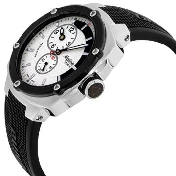 Alpina Avalanche Extreme Silber Zifferblatt Silikon Strap Herren-Armbanduhr al650lsss3ae6 - 3