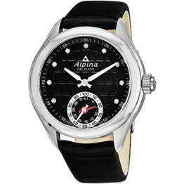 Alpina Damen Analog Quarz Uhr mit Leder Armband AL-285BTD3C6 - 1