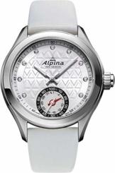 ALPINA Damen-Armbanduhr 39MM Armband Satin WEIß Schweizer Quarz AL-285STD3C6 - 1