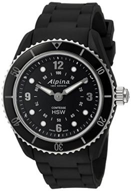 Alpina Damen '' Comtesse 'Swiss Quarz Edelstahl und Gummi Fitness Uhr, Farbe: Schwarz (Modell: al-281bs3V6) - 1