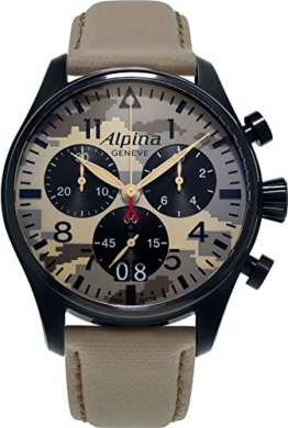Alpina Geneve CAMOUFLAGE PILOT BIG DATE CHRONOGRAPH AL-372MLY4FBS6 Herrenchronograph Fliegeruhr - 1