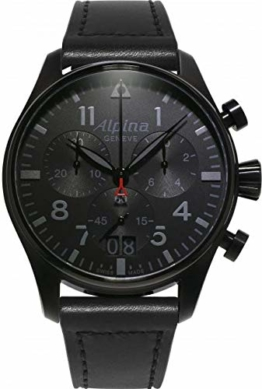 Alpina Geneve Startimer Shadow Line Big Date Quartz Chronograph AL-372BB4FBS6 Herrenchronograph - 1