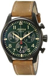 Alpina Herren al-372gr4fbs6Startimer Pilot Chronograph Big Date Analog Display Swiss Quarz Braun Armbanduhr - 1