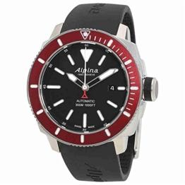 Alpina Herren Analog Automatik Uhr mit Gummi Armband AL-525LBBRG4V6 - 1