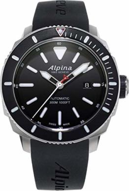 Alpina Herren Analog Automatik Uhr mit Gummi Armband AL-525LBG4V6 - 1