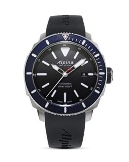 Alpina Herren Analog Automatik Uhr mit Gummi Armband AL-525LBN4V6 - 1