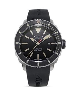 Alpina Herren Analog Automatik Uhr mit Gummi Armband AL-525LGG4V6 - 1