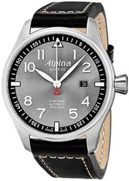 Alpina Herren Analog Automatik Uhr mit Leder Armband AL-525GB4S6 - 1