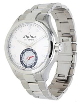 Alpina Herren Analog Quarz Uhr mit Edelstahl Armband AL-285S5AQ6B - 1