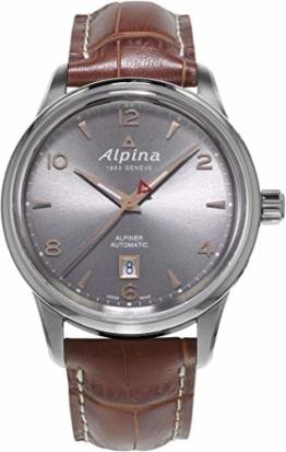 Alpina Herren-Armbanduhr 41mm Armband Leder Braun Automatik Analog AL-525VG4E6 - 1