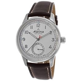 Alpina Herren-Armbanduhr 41mm Armband Schweinsleder Braun Automatik AL-710S4E6 - 1