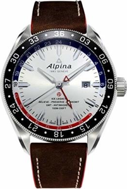 Alpina Herren-Armbanduhr 44mm Armband Leder Schweizer Automatik AL-550SRN5AQ6 - 1