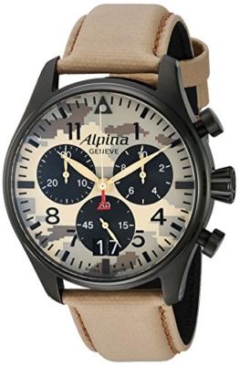 Alpina Herren-Armbanduhr 44mm Armband Nylon Schweizer Quarz AL-372MLY4FBS6 - 1