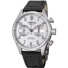 Alpina Herren-Armbanduhr 44mm Schwarz Schweizer Automatik AL-860SC4S6 - 1