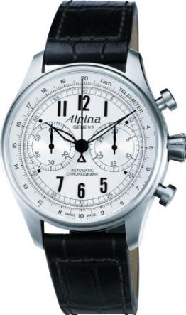 Alpina Herren-Armbanduhr 44mm Schwarz Schweizer Automatik AL-860SCP4S6 - 1