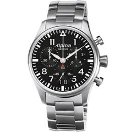 Alpina Herren-Armbanduhr Chronograph Quarz Edelstahl 372B4S6B - 1