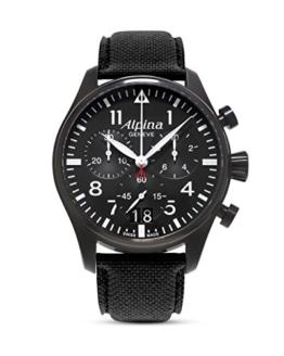 Alpina Herren Chronograph Quarz Uhr mit Leder Armband AL-372B4FBS6 - 1