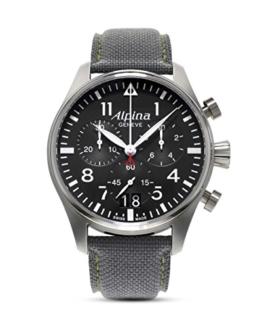 Alpina Herren Chronograph Quarz Uhr mit Leder Armband AL-372B4S6 - 1
