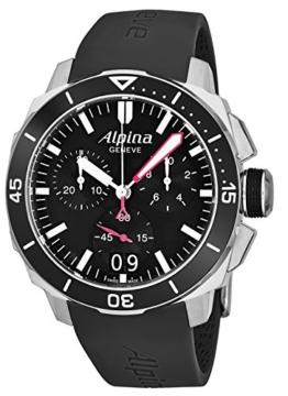 Alpina Herren Chronograph Quarz Uhr mit Leder Armband AL-372LBG4V6 - 1