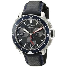 Alpina Herren Chronograph Quarz Uhr mit Leder Armband AL-372LBN4V6 - 1