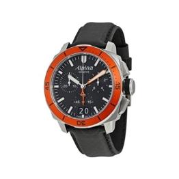 Alpina Herren Chronograph Quarz Uhr mit Leder Armband AL-372LBO4V6 - 1