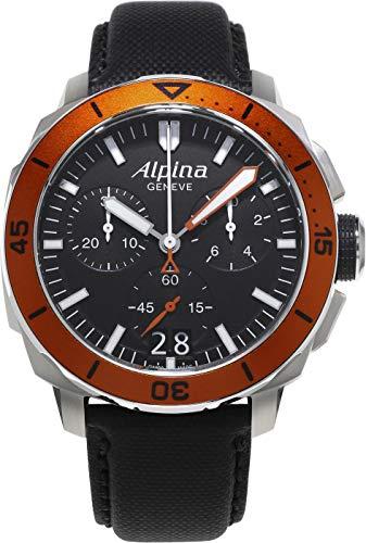ALPINA SEA STRONG DIVER 300 HERREN-ARMBANDUHR SCHWEIZER QUARZ AL-372LBO4V6 - 1