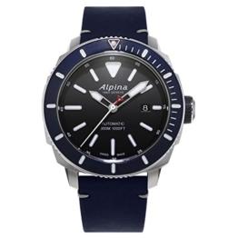ALPINA SEASTRONG Diver 300 Herren-Armbanduhr 44MM BLAU AUTOMATIK AL-525LBN4V6 - 1