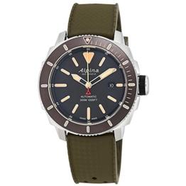 Alpina Seastrong Diver 300 Herren-Armbanduhr 44mm Grün Automatik AL-525LGG4V6 - 1