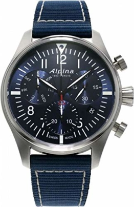 Alpina Startimer Pilot Herren-Armbanduhr 42mm Batterie AL-371NN4S6 - 1