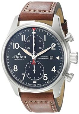 ALPINA STARTIMER Pilot Herren-Armbanduhr 44MM AUTOMATIK AL-725N4S6 - 1