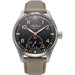 ALPINA STARTIMER Pilot Herren-Armbanduhr 44MM Batterie AL-280BGR4S6 - 1