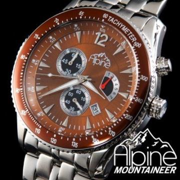 Alpine Mountaineer Koenigsspitze KS-Br Elegante Herrenuhr Massives Gehäuse - 4
