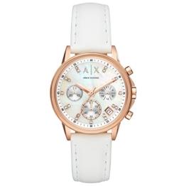 Armani Exchange Damen Chronograph Quarz Uhr mit Leder Armband AX4364 - 1