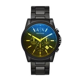 Armani Exchange Herren Chronograph Quarz Uhr mit Edelstahl Armband AX2513 - 1