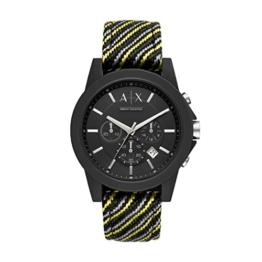 Armani Exchange Herren Chronograph Quarz Uhr mit Nylon Armband AX1334 - 1