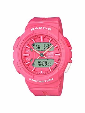 Baby-G Damen Analog-Digital Quarz Uhr mit Harz Armband BGA-240BC-4AER - 1