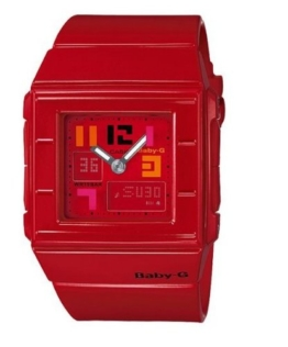 Baby-G World Time Chronograph Red Dial Damenuhr # BGA200PD-4B - 1