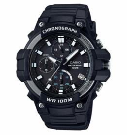 CASIO Collection Herren Analog Quarz Uhr mit Harz Armband MCW-110H-1AVEF - 1