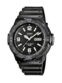 Casio Collection Herren-Armbanduhr MRW 200H 1B2VEF, schwarz/Schwarz - 1